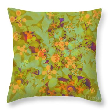 Throw Pillow featuring the digital art Fractal Blossom 2 by Ursula Freer