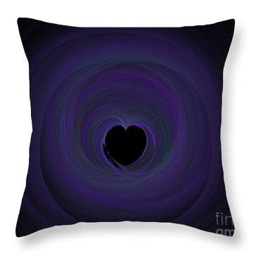 Throw Pillow featuring the digital art Fractal Blue by Henrik Lehnerer