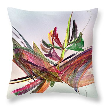 Fractal Butterfly Throw Pillow by Camille Lopez
