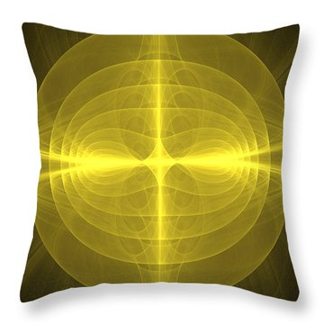 Fractal - Christ - Holy Cross Throw Pillow by Mike Savad