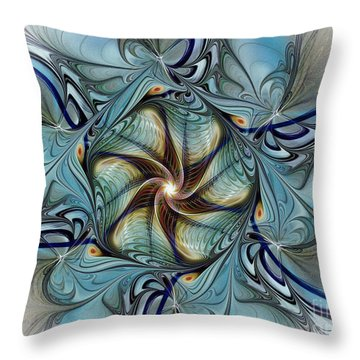 Fractal Composition In Art Deco Style Throw Pillow