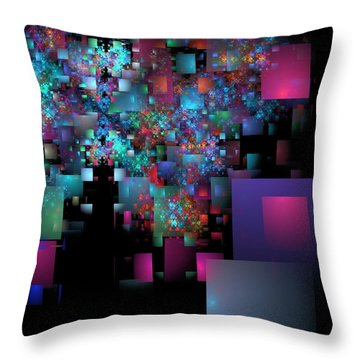 Fractal Confetti Throw Pillow