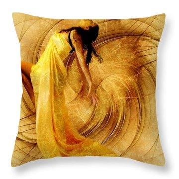Fractal Dance Of Joy Throw Pillow