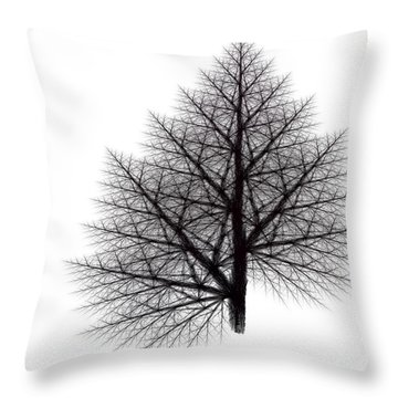 Fractal Essence Of A Tree Throw Pillow