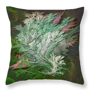 Fractal Ferns Throw Pillow