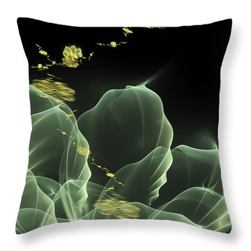 Fractal Flower Throw Pillow by Arlene Sundby