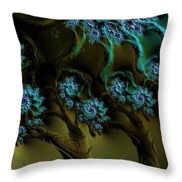 Fractal Forest Throw Pillow