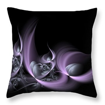 Fractal Fruits Throw Pillow