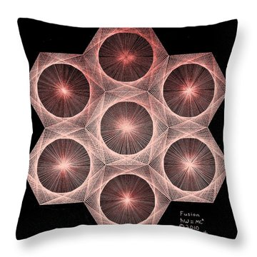 Fractal Fusion Hw Equals Mc Squared Throw Pillow