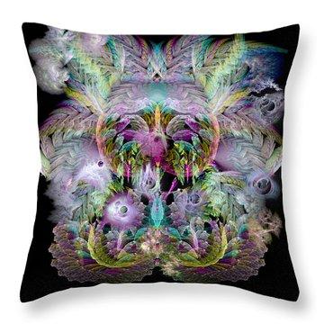 Fractal Grasses Throw Pillow