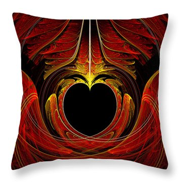 Fractal - Heart - Victorian Love Throw Pillow by Mike Savad