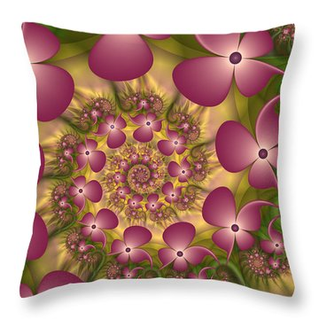 Fractal Joy Throw Pillow