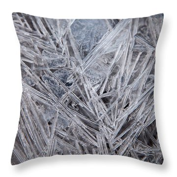 Frozen Fractal Throw Pillow
