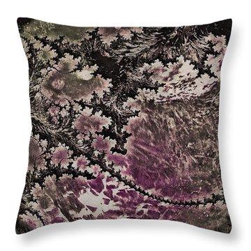 Throw Pillow featuring the digital art Fractal Moon by Susan Maxwell Schmidt