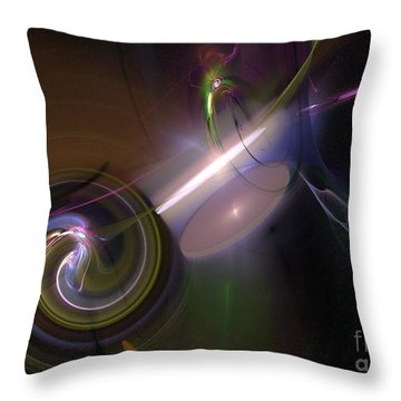 Throw Pillow featuring the digital art Fractal Multi Color by Henrik Lehnerer