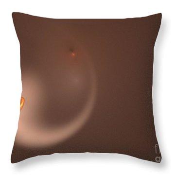 Throw Pillow featuring the digital art Fractal Orange Flair by Henrik Lehnerer