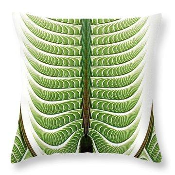 Throw Pillow featuring the digital art Fractal Pine by Anastasiya Malakhova