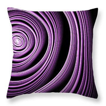 Fractal Purple Swirl Throw Pillow