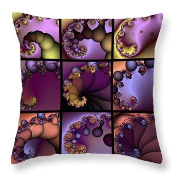 Fractal Quilt 2  Throw Pillow