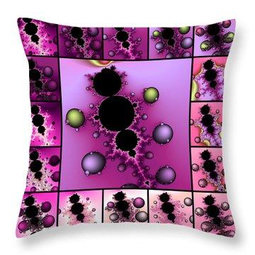 Fractal Quilt 4  Throw Pillow