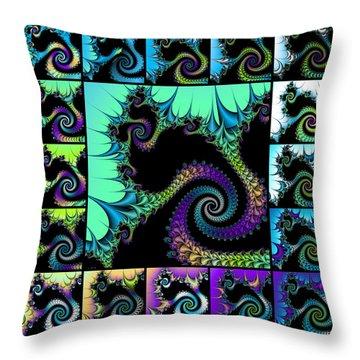 Fractal Quilt 5  Throw Pillow
