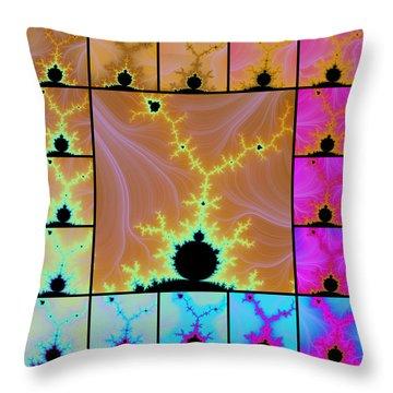 Fractal Quilt 6  Throw Pillow
