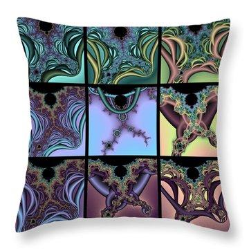 Fractal Quilt 7 Throw Pillow