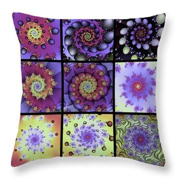 Fractal Quilt 8  Throw Pillow