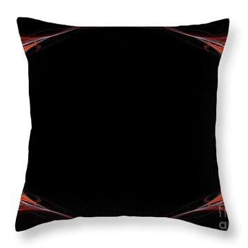 Throw Pillow featuring the digital art Fractal Red Frame by Henrik Lehnerer