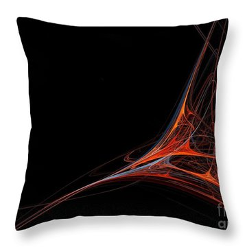 Throw Pillow featuring the photograph Fractal Red by Henrik Lehnerer