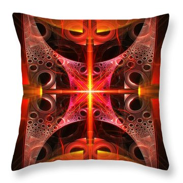Fractal - Science - Cold Fusion Throw Pillow by Mike Savad
