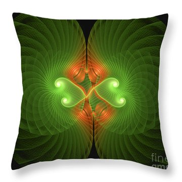 Throw Pillow featuring the digital art Fractal Shell by Melissa Messick