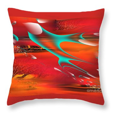 Impossible Dimension 2 Throw Pillow by Yul Olaivar