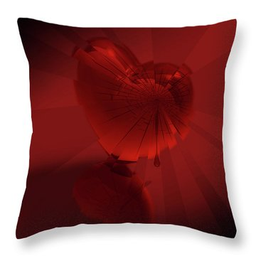 Fracture II Throw Pillow by Jeremy Martinson