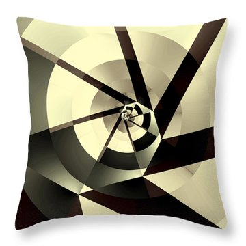 Fracture Throw Pillow by Kevin Trow