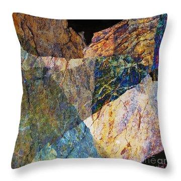 Fracture Xxvi Throw Pillow by Paul Davenport