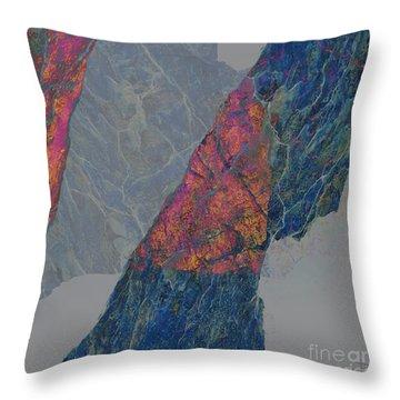 Fracture Xxx Throw Pillow by Paul Davenport