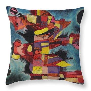 Fractured Fire Throw Pillow by Mark Jordan