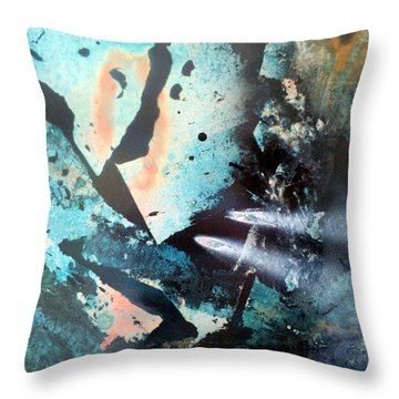 Fractured Planet Throw Pillow