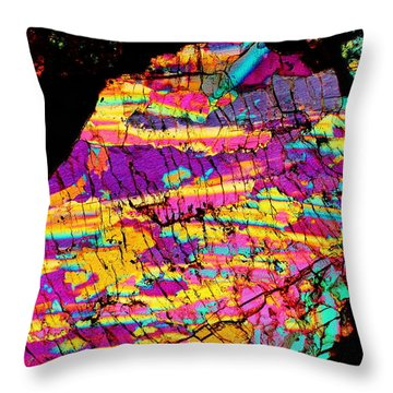 Fractured Sunrise On Planet Magoo Throw Pillow