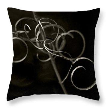 Fragile Silence Throw Pillow by Maria Ismanah Schulze-Vorberg