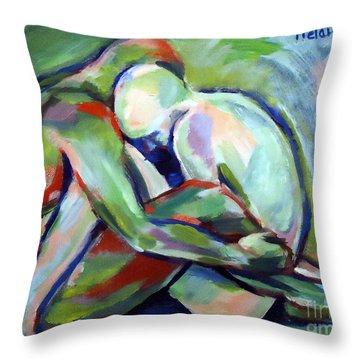 Fragility Throw Pillow by Helena Wierzbicki
