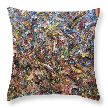 Throw Pillow featuring the painting Fragmented Fall by James W Johnson
