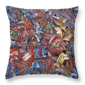 Throw Pillow featuring the painting Fragmented Rose by James W Johnson