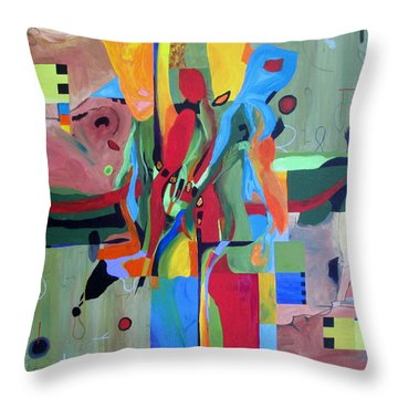 Fragments Number 10 Again Throw Pillow by Randall Weidner