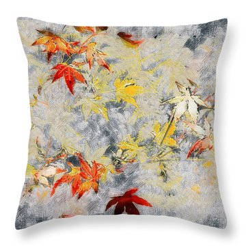 Fragments Of Fall Throw Pillow by RC deWinter