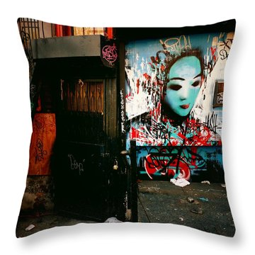 Fragments - Street Art - New York City Throw Pillow by Vivienne Gucwa