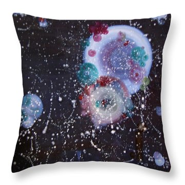 Throw Pillow featuring the painting Fragrance by Min Zou