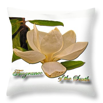 Fragrance Of The South Throw Pillow by Larry Bishop