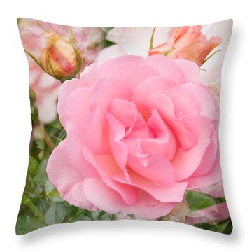 Fragrant Cloud Rose Throw Pillow by Jane McIlroy